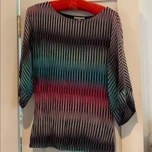 Multi color tunic top